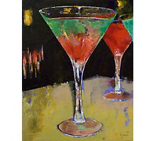 Watermelon Martini Photographic Print