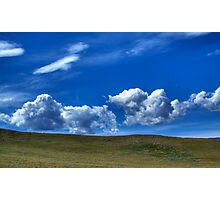 Blues sky and landscape Photographic Print