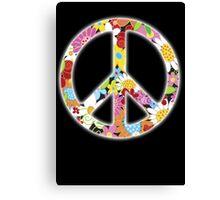 Peace Symbol Hippie 3 Canvas Print