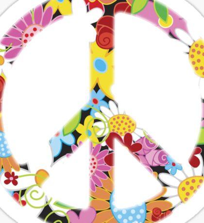 Peace Symbol Hippie 3 Sticker