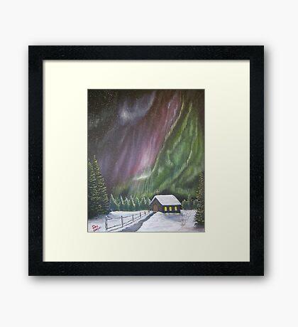 Christmas Glory (Gods Christmas lights) Framed Print