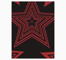 Red star art night  Kids Tee