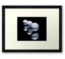 3 Golf Balls Framed Print