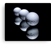 3 Golf Balls Canvas Print