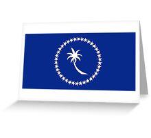 Flag of Chuuk State  Greeting Card