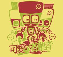 Cyborg Mascot Stencil One Piece - Short Sleeve