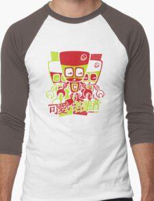 Cyborg Mascot Stencil Men's Baseball ¾ T-Shirt