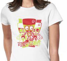 Cyborg Mascot Stencil Womens Fitted T-Shirt