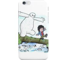 Baymax and Hiro Version Calvin And Hobbes iPhone Case/Skin