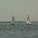 Sailing on Lake Michigan by Dan Wagner