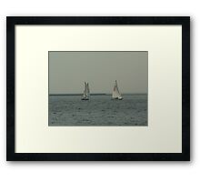 Sailing on Lake Michigan Framed Print