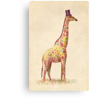 Fashionable Giraffe Canvas Print