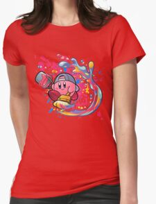 Kirby is a true artist Womens Fitted T-Shirt