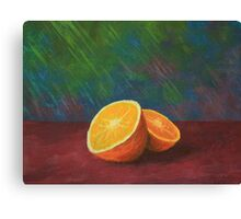 sliced orange Canvas Print
