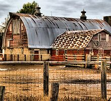Rusty Roofed Barn by pshootermike