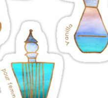 Pretty Perfumes - a pattern of vintage fragrance bottles Sticker