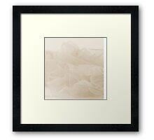Lace And Ruffles Tablecoth In Sepia Framed Print