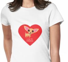Chihuahua Heart Womens Fitted T-Shirt