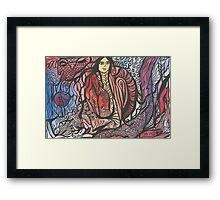 Jentangle Girl Framed Print