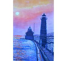 Lighthouse at Dusk Photographic Print