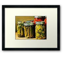 Pickled Pink Framed Print