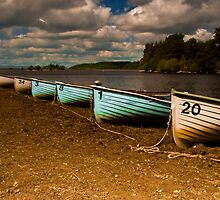 Boats on the North Third Reservoir by Gabor Pozsgai
