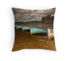 Boats on the North Third Reservoir Throw Pillow