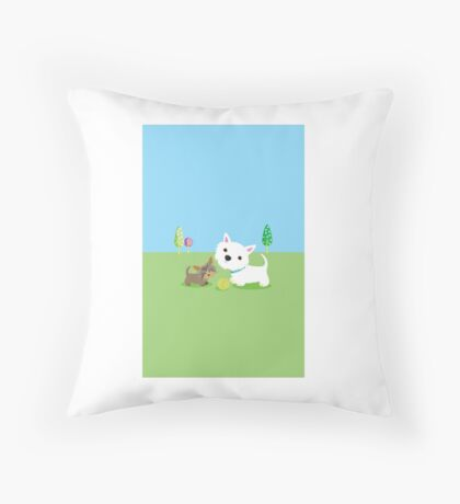 Best Friends – Westie & Yorkie  Throw Pillow