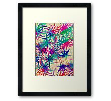 Tropical Jungle - a watercolor painting Framed Print
