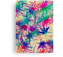 Tropical Jungle - a watercolor painting Canvas Print