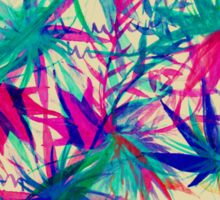 Tropical Jungle - a watercolor painting Sticker