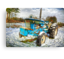 Tractor in Winter Canvas Print