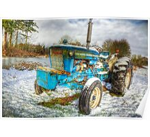 Tractor in Winter Poster
