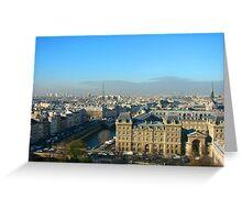 Parisian Skyline Greeting Card