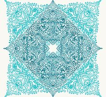 Teal Tangle Square by micklyn