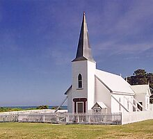 Anglican Church, Raokokore, New Zealand by Adrian Paul