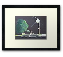 End of the Street Framed Print
