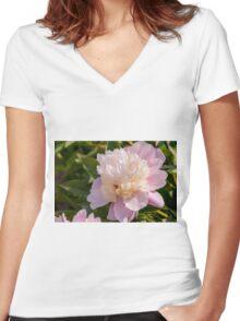 In Full Bloom Women's Fitted V-Neck T-Shirt