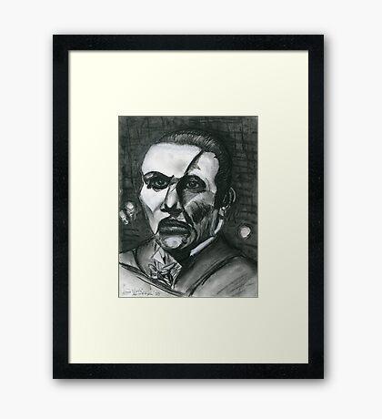 The Phantom In B&W Framed Print