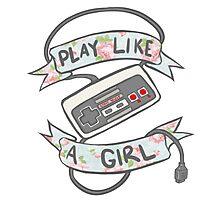 Play Like A Girl!  Photographic Print