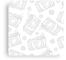 Retro photo cameras Canvas Print