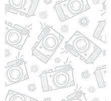 Retro photo cameras Photographic Print
