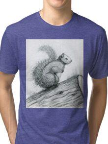 The Perched Squirrel Tri-blend T-Shirt