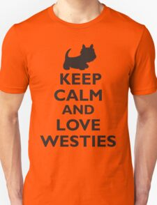 Keep Calm and Love Westies (black) T-Shirt