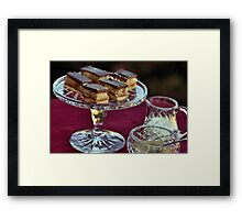 Orange Chocolate Slice Framed Print