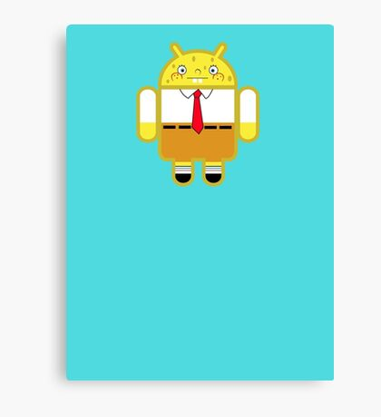 Droidarmy: Spongedroid Squarepants Canvas Print