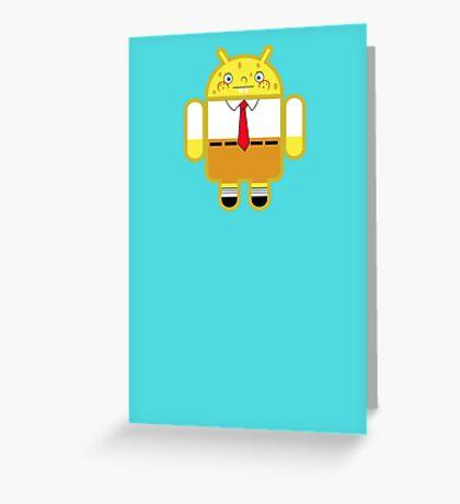 Droidarmy: Spongedroid Squarepants Greeting Card
