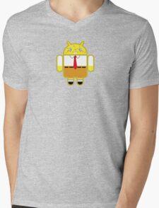 Droidarmy: Spongedroid Squarepants Mens V-Neck T-Shirt