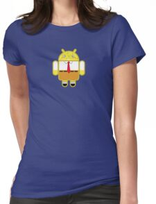 Droidarmy: Spongedroid Squarepants Womens Fitted T-Shirt