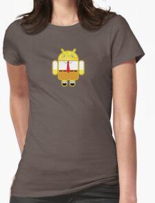Droidarmy: Spongedroid Squarepants Womens Fitted T-Shirt